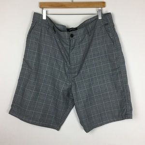 Quiksilver Gray Flat Front Shorts Size 40
